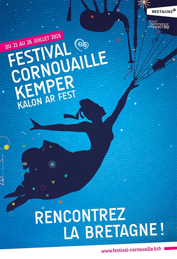 Affiche du festival de Cornouaille 2015