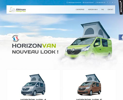 site internet Glenan concept cars