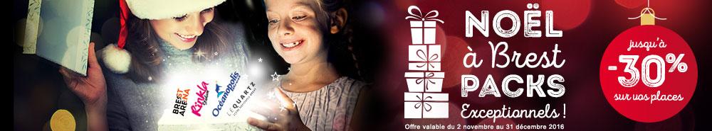 Bandeau web pour Noël à Brest